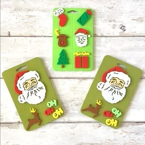 Christmas Foam Stamps Santa Reindeer Stocking